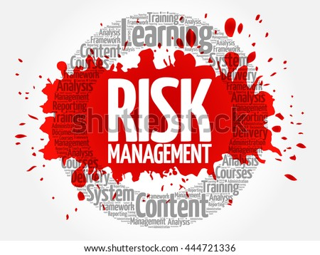 Risk Management circle word cloud, business concept - stock vector