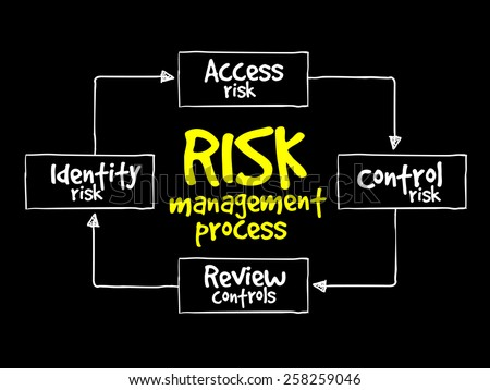 Risk management process, business concept - stock vector