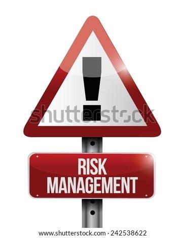 risk management warning sign illustration design over a white background - stock vector