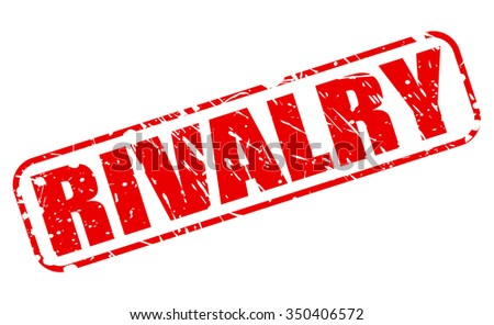 RIVALRY red stamp text on white - stock vector