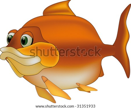 river fish - stock vector