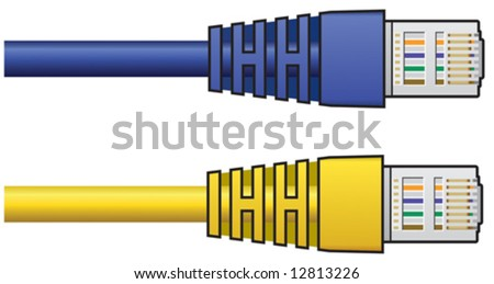 RJ-45 Cable - stock vector