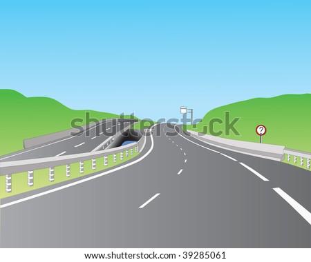 road - stock vector