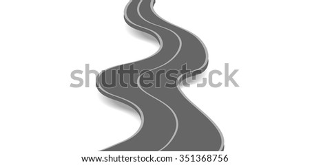 Road abstract background. Vector design