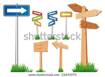Road arrows. Vector. - stock vector