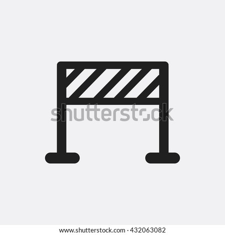 Road barrier Icon, Road barrier Icon Eps10, Road barrier Icon Vector, Road barrier Icon Eps, Road barrier Icon Jpg, Road barrier Icon, Road barrier Icon Flat, Road barrier Icon App - stock vector