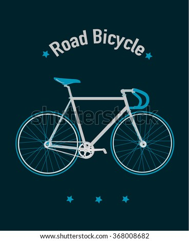 Road bicycle vector illustration - stock vector
