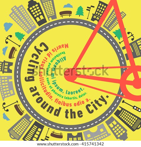 Road bike city wheel