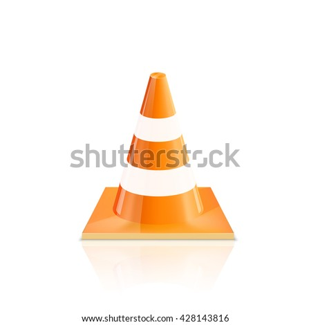 Road Cones icons on a white background, Vector illustration