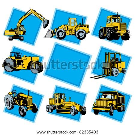 Road Engineering - stock vector