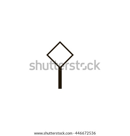 road icon. road sign - stock vector