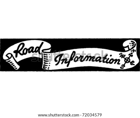 Road Information - Retro Ad Art Banner
