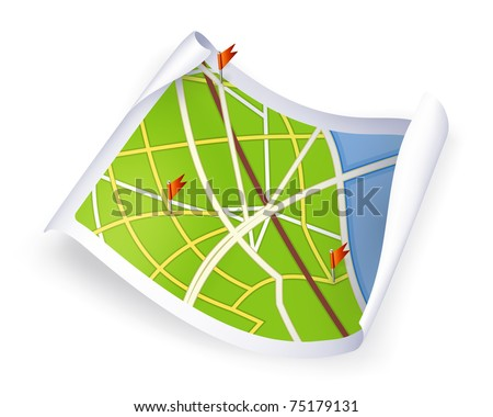 Road Map, 10eps - stock vector