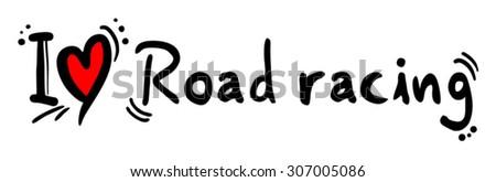Road racing love - stock vector