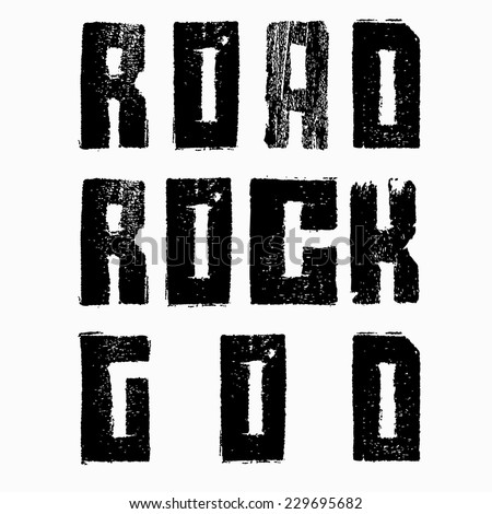 road rock god - stock vector