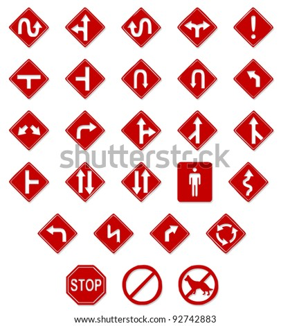 Road Sign: - stock vector
