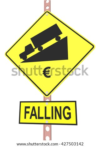 "road sign and a sign with the text ""FALLING"""