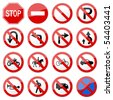Road Sign Glossy Vector (Set 6 of 8) - stock vector
