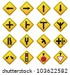 Road Sign  set - stock vector