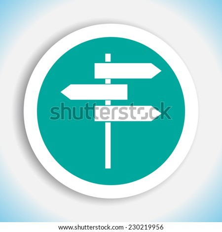 road sign vector icon - stock vector