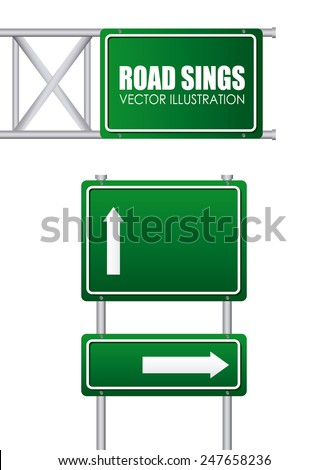 road signs design, vector illustration eps10 graphic