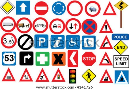 road signs in vector format
