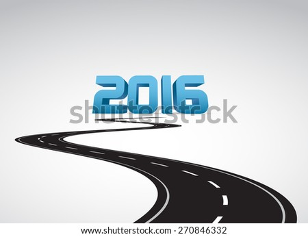 Road to 2016 - stock vector