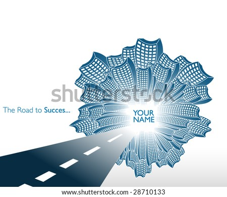 Road to corporate succes - stock vector