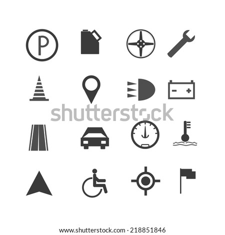 Road traffic infographic icons on the White background - stock vector