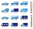 Road transport icon set - vector illustration - stock vector