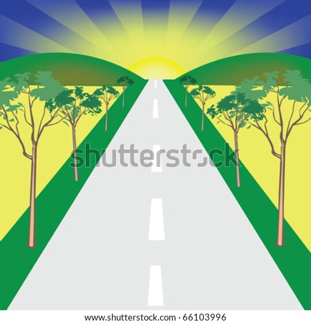 road vector illustration - stock vector