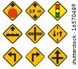 road warning signs - stock vector