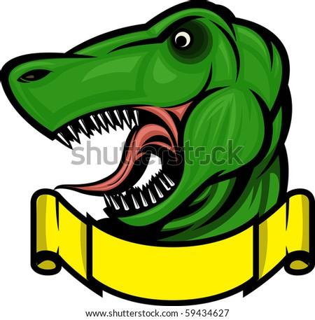 Roaring Dinosaur mascot - stock vector