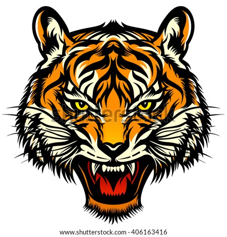 Tiger roar vector - photo#14