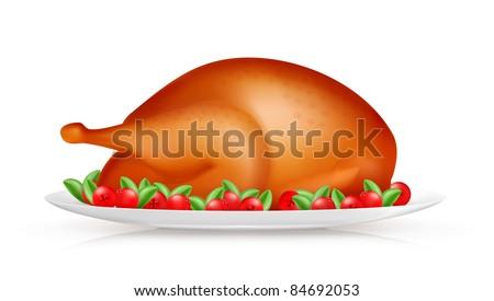 Roasted Turkey, 10eps - stock vector
