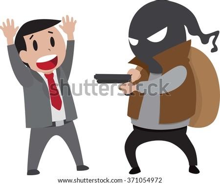 Robbery - stock vector