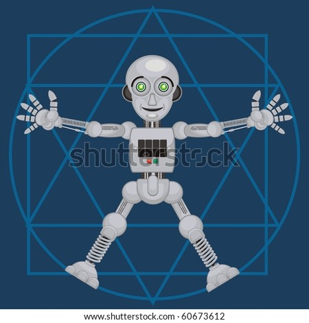 robot android r2 version 2.1 - stock vector