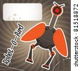 Robot bird. Vector illustration. - stock vector