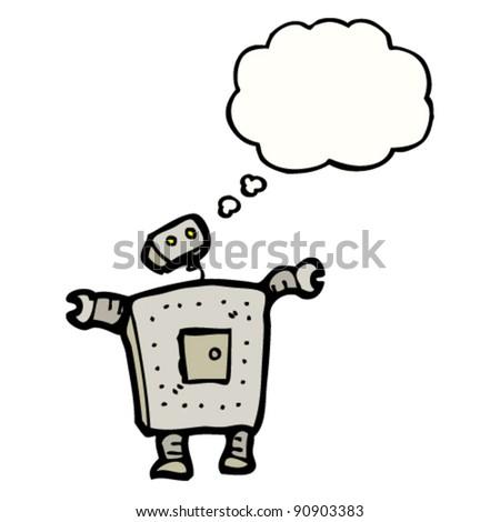 robot cartoon - stock vector