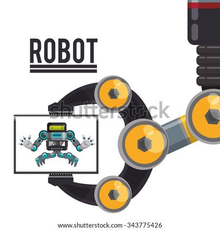 Robot concept and technology design, vector illustration 10 eps graphic.