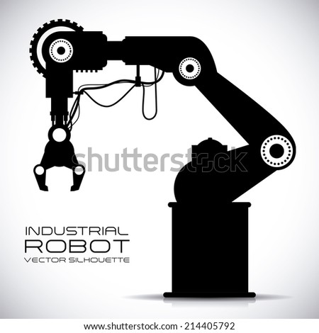 robot design over gray background vector illustration  - stock vector