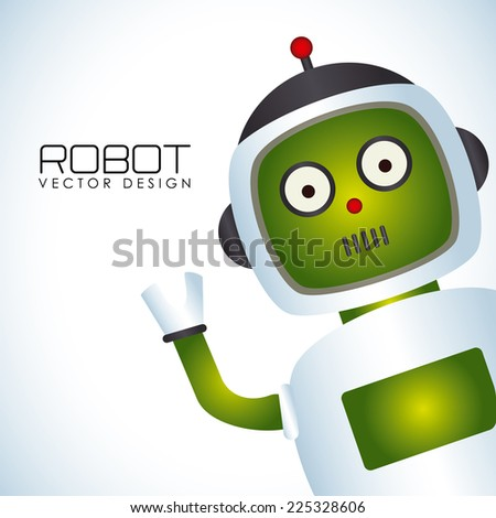Robot design over white background, vector illustration