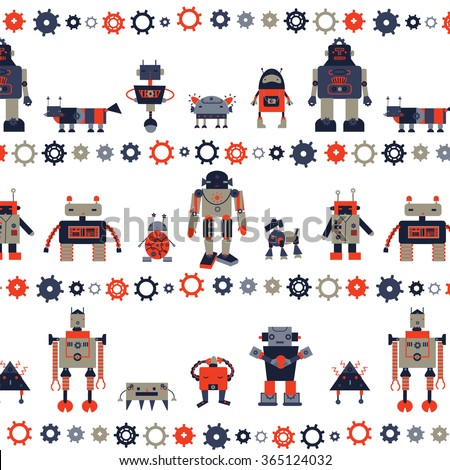 robot mechanic toy pattern