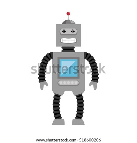 robot toy kid isolated icon
