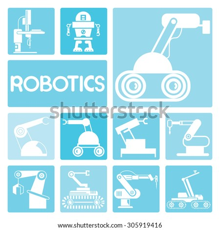 robotics - stock vector
