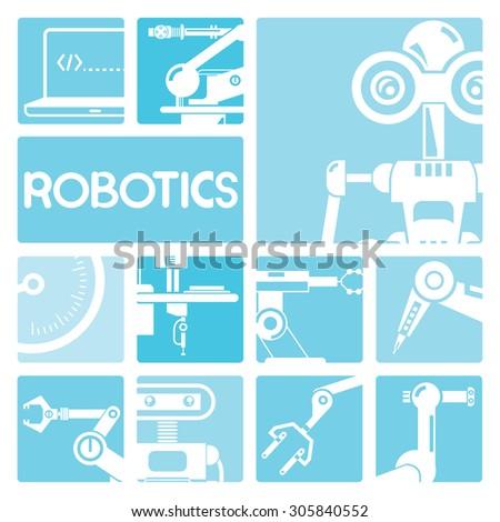 robotics concept - stock vector