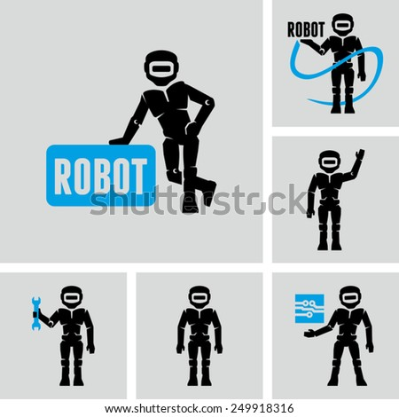 Robots Vector icons  - stock vector
