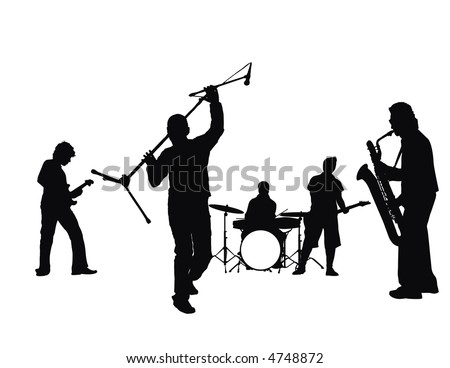 rock and roll - stock vector