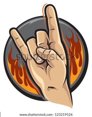 Rock and roll hand sign