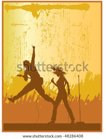 Rock Band - stock vector